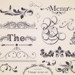 Vector set: calligraphic design elements and page decoration — Stock Vector #15723917