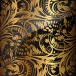 Seamless wallpaper pattern gold, vector - Stok Vektör