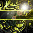 Summer black green banner - Grafika wektorowa