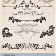 Vector set: calligraphic design elements and page decoration — Stock Vector #15724353