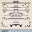 Vector set: calligraphic design elements and page decoration - Векторная иллюстрация