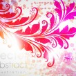 Stock Vector: Floral Background design with flower ornament for summer banner. Vector