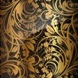 Seamless wallpaper pattern gold, vector — Stock Vector #15770557
