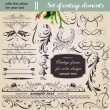 Vector set: calligraphic design elements and page decoration - lots of useful elements to embellish your layout — Stock Vector #15771607