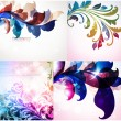 Set of spring floral ornaments. — Imagen vectorial