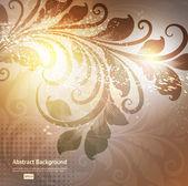 Luxus Grusskarte Frühling oder Sommer. Floral Ornament mit Blüten für Sommer-design — Stockvektor