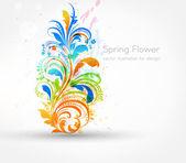 Diseño de fondo de la flor de primavera — Vector de stock