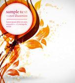 Seamless orange wallpaper — Stock Vector