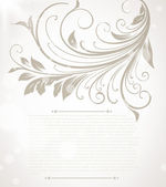Hand Drawn floral background with flowers, greeting vector card for retro summer design. — Stock Vector