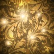 Royalty-Free Stock Vectorielle: Seamless floral background with flowers pattern for wallpaper design, gold