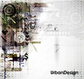 Abstract Techno Vector Background — Stock Vector