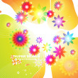 Abstract floral spring background. - Vektorgrafik