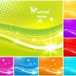 Vector shiny background set - Stock Vector