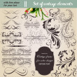 Vector set: calligraphic design elements and page decoration - lots of useful elements to embellish your layout — Stock Vector #15851421