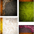Seamless Wallpaper set, Vector Colorful Background — Imagen vectorial