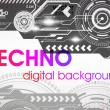 Abstract Techno Vector Background - 图库矢量图片
