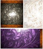 Seamless Wallpaper set, Vector Colorful Background — Stockvektor