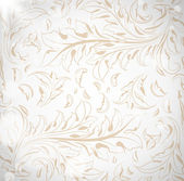 Seamless white Damask wallpaper — Stock Vector