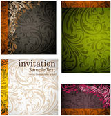 Seamless Wallpaper set, Vector Colorful Background — Stock Vector