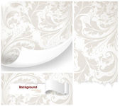 Seamless white Damask wallpaper — Vecteur