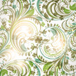 Seamless wallpaper with floral ornament with leafs and flowers for vintage design - Stockvektor
