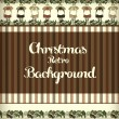 Vintage background for christmas design. Hand drawn vector. - Stok Vektör