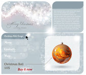 Christmas Web site design template for New Year design — Stock Vector