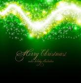 Abstraktní vánoční přání s bílé sněhové vločky a světla — Stock vektor