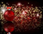 Elegant christmas achtergrond met kerstballen — Stockvector