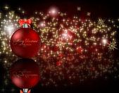 Elegante fondo de navidad con adornos — Vector de stock