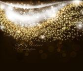 Elegant christmas achtergrond met plaats voor nieuwjaar tekst uitnodiging — Stockvector