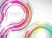 Tecnología retro abstracto círculos vector fondo. — Vector de stock