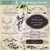 Vector set: calligraphic design elements and page decoration - lots of useful elements to embellish your layout — Stock Vector