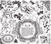 設計の抽象的なパターン。背景の花のレトロな要素 — ストックベクタ