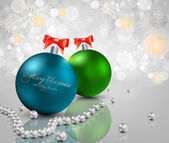 Elegant christmas background with baubles — ストックベクタ