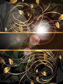 Elegant christmas background with place for new year text invitation — Stock Vector