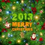 Christmas vector background. 2011 — Stock Vector