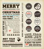 クリスマスの装飾のコレクション. — ストックベクタ