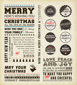 Christmas decoration collection. — Vector de stock