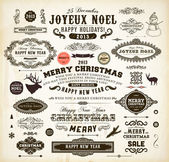 Christmas decoration collection. — Vettoriale Stock