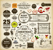 Christmas decoration collection. — Stockvektor