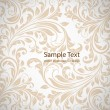 Stock Vector: Seamless white Damask wallpaper