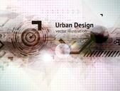 Abstract techno vektör arka plan — Stok Vektör