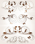 Abstract pattern for design. Floral retro elements for background — Stock Vector