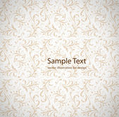 Seamless white Damask wallpaper — Stockvektor