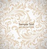 Seamless wallpaper damassé blanc — Vecteur