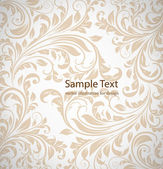 Seamless white Damask wallpaper — Vector de stock