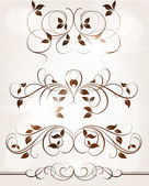 Abstract pattern for design. Floral retro elements for background — Vector de stock