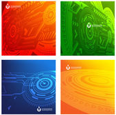 Abstract set of techno vectors. — Stock Vector