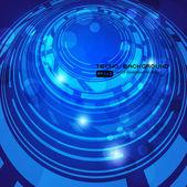 абстрактный ретро технологии кругах векторный фон для дизайна бизнес — Cтоковый вектор